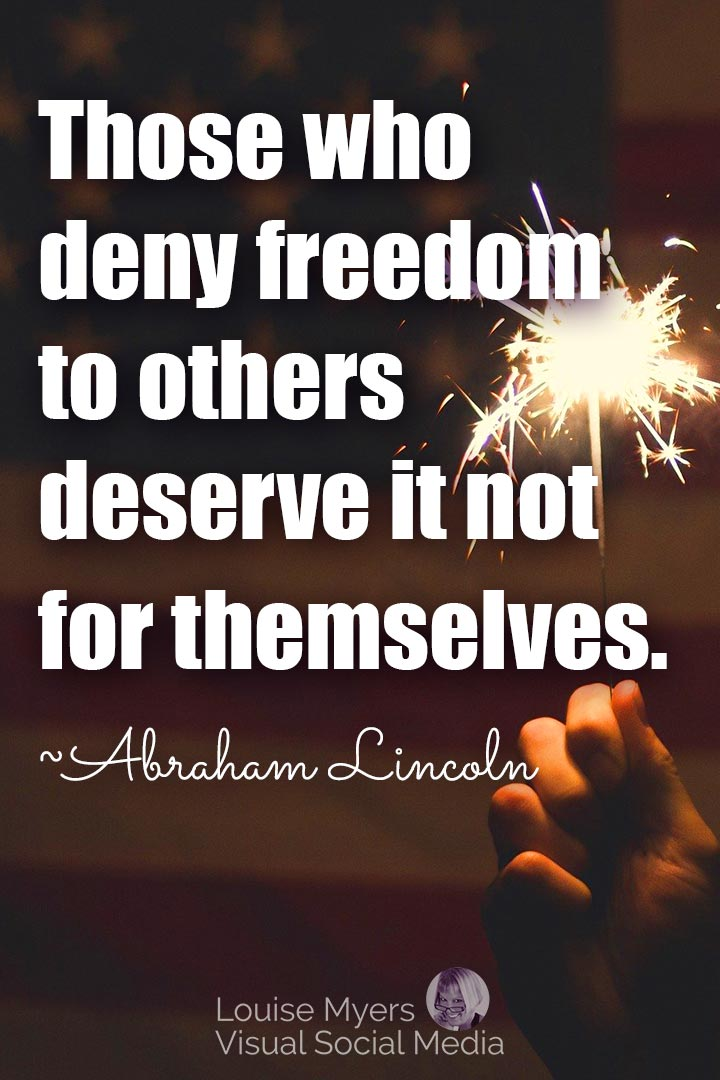 Abraham Lincoln freedom quote image