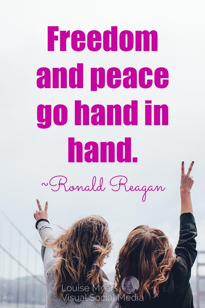 ronald reagan freedom quote image