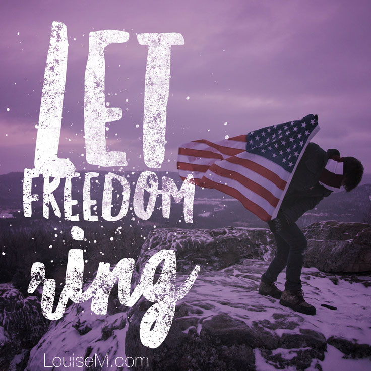 Let Freedom ring quote image