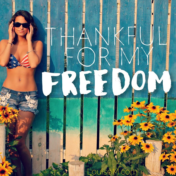 thankful for my freedom quote image