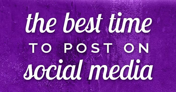 best time to post on social media banner image