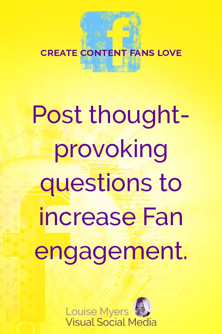 Ask questions to encourage interaction graphic