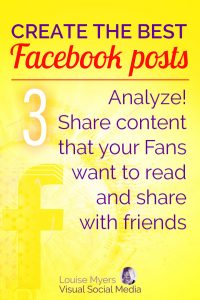 Facebook marketing tip: Share content that your Fans want to read and share