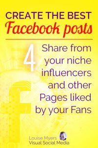 Facebook marketing tip: Share from niche influencers and other Pages that your Fans like