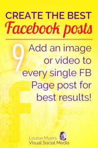 Facebook marketing tip: Post a photo or video with every FB Page post