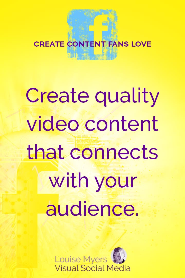 Create quality video content for Facebook graphic
