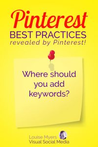 Pinterest marketing tip: Where should we use our keywords?