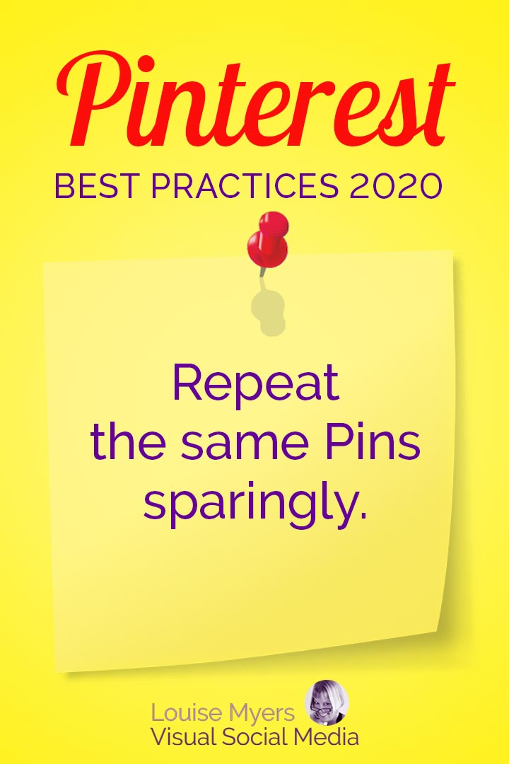Duplicate Pinterest Pins sparingly