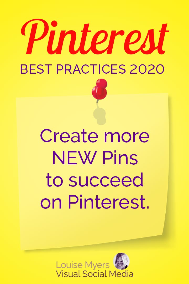 Create more new Pins to succeed on Pinterest