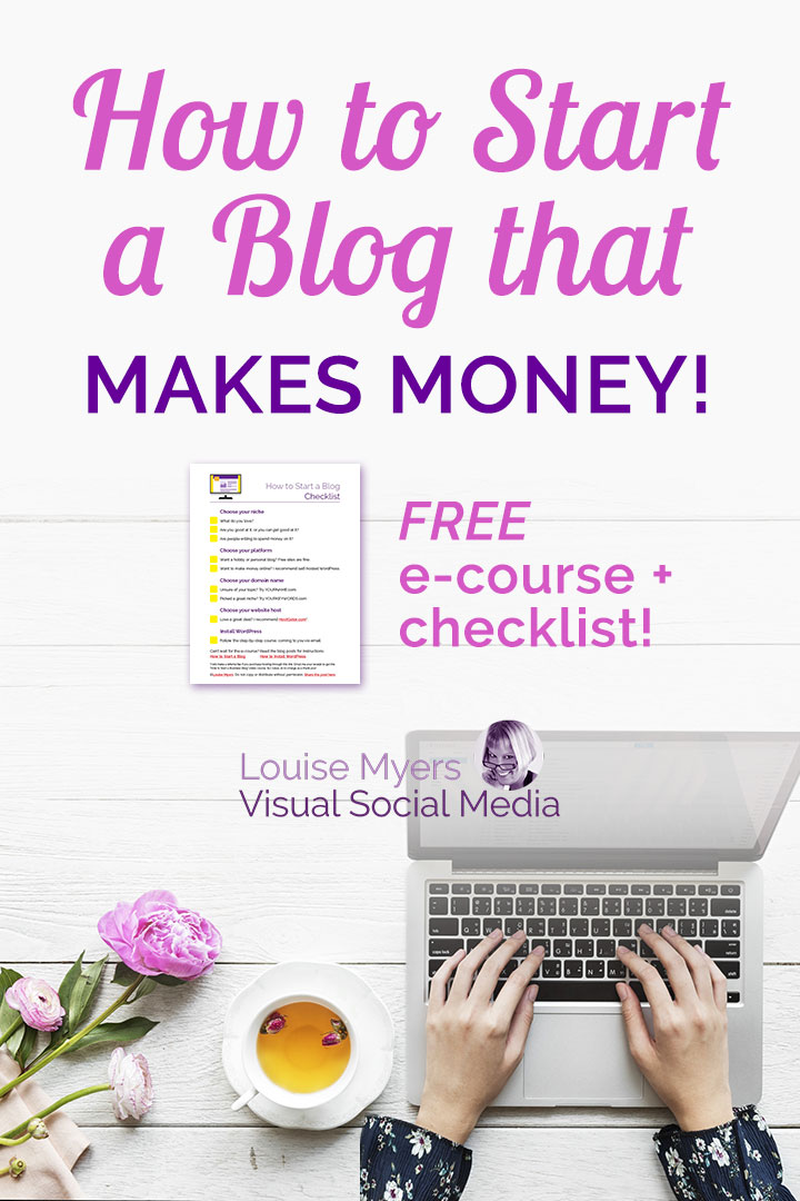 How to start a blog banner