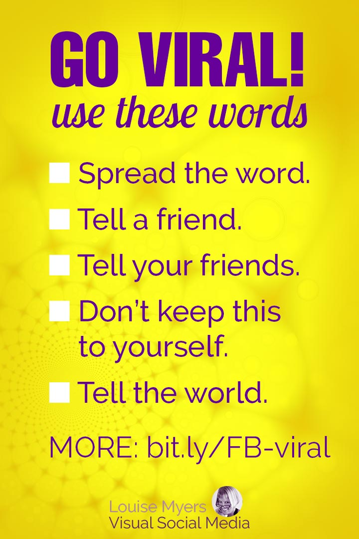 words to get more shares on facebook