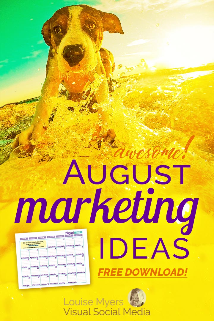 August marketing ideas pinnable image