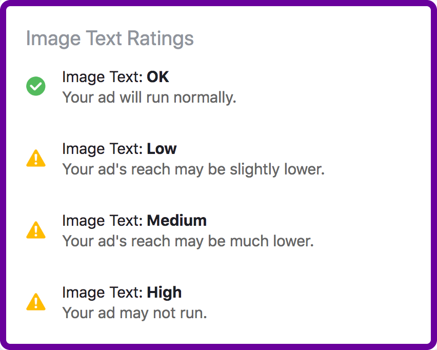 Facebook uses this classification for the text overlay on images