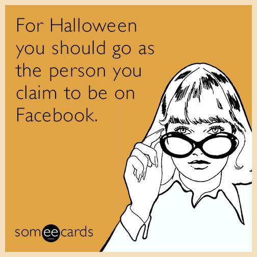 funny Facebook Halloween quote