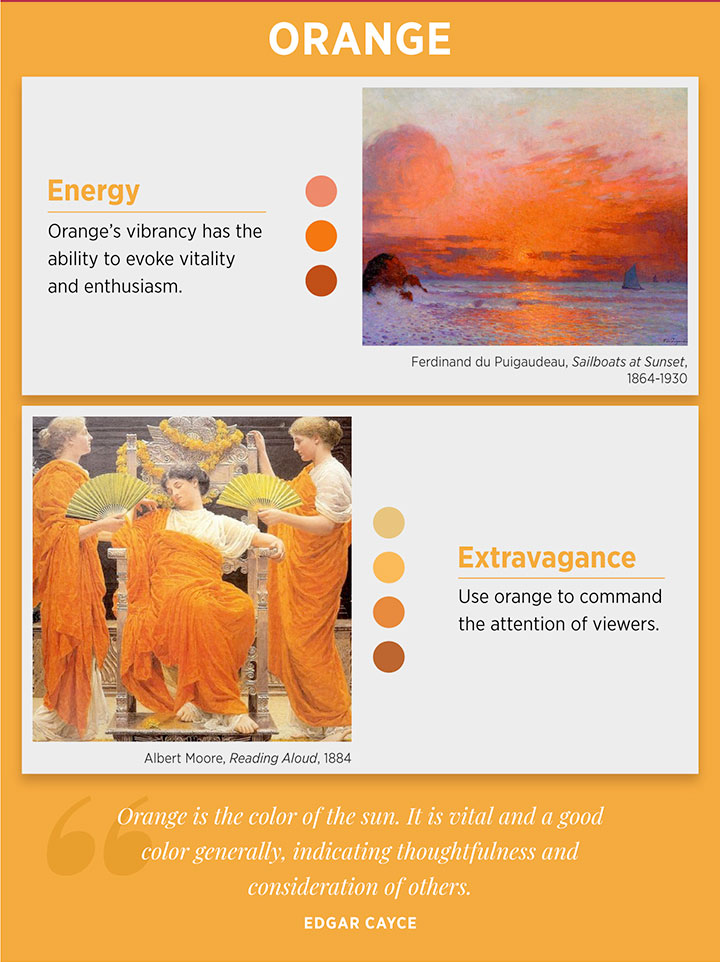 Orange color meaning and emotions