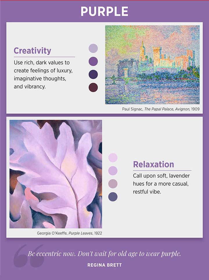Purple color meaning and emotion