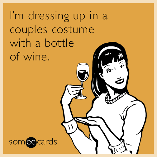 funny couples Halloween quote