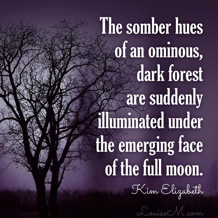 full moon Halloween quote
