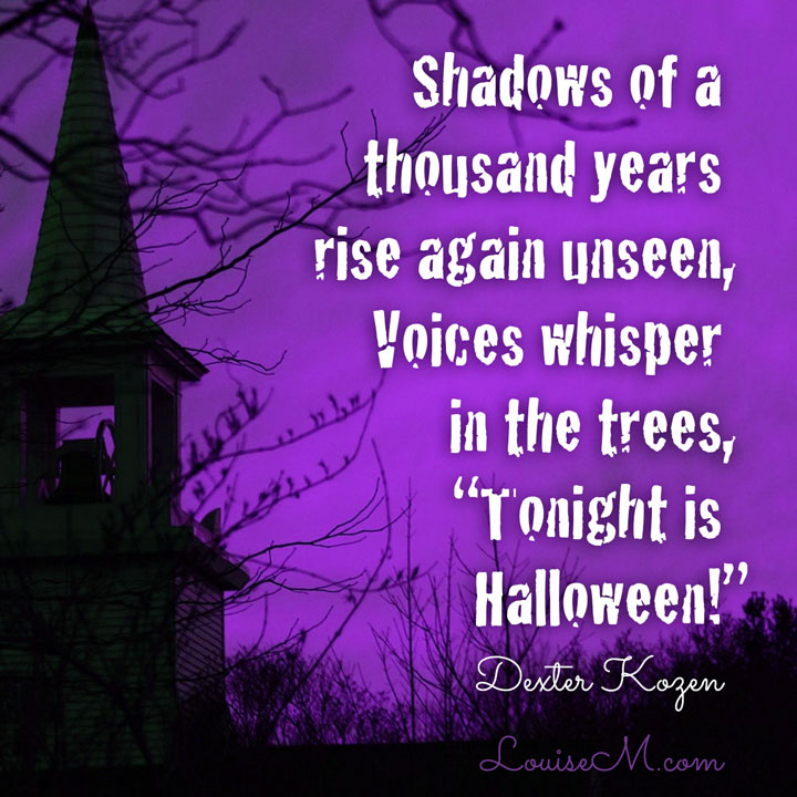 Tonight is Halloween spooky quote