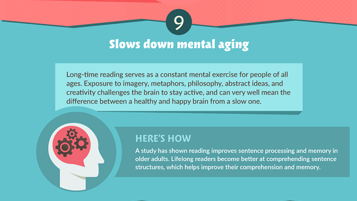 reading slows down mental aging