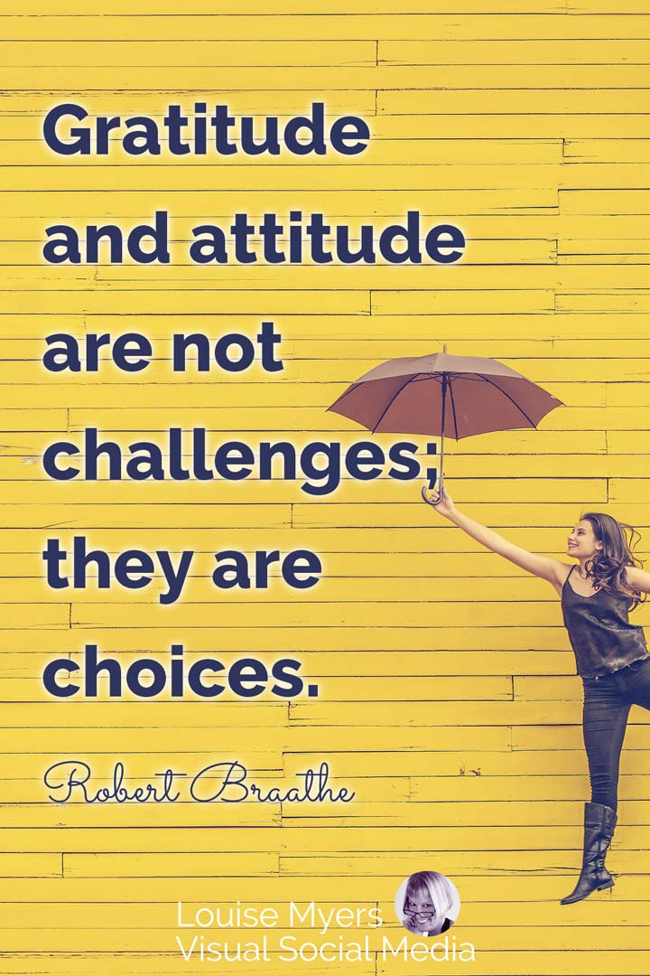 gratitude quote image: challenges or choices