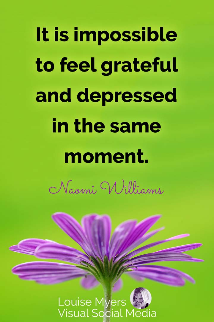 gratitude quote image: grateful vs depressed