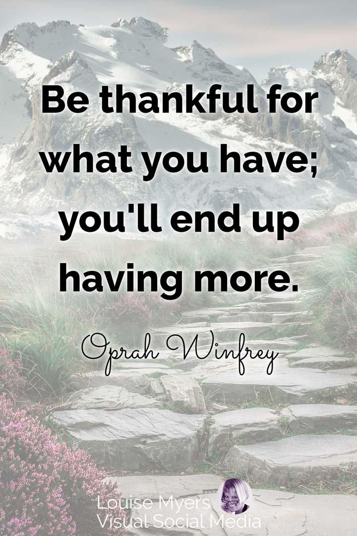 gratitude quote image: oprah