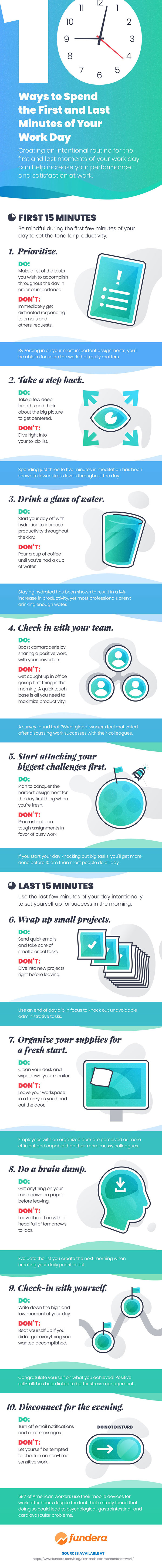 Boost Productivity at Work infographic