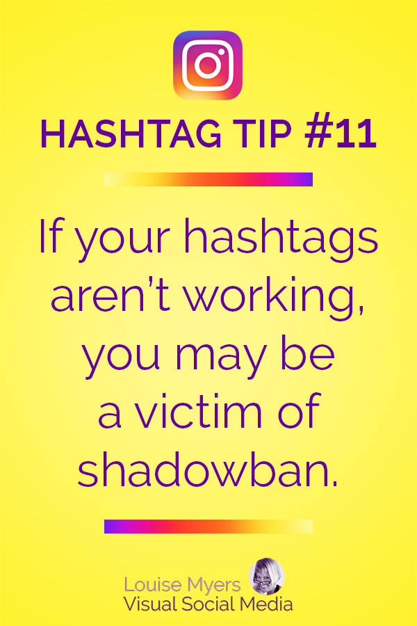 Instagram hashtags not working may mean shadowban