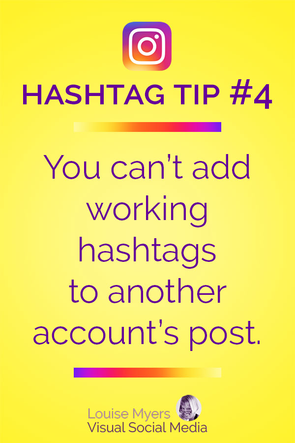 You can't add working hashtags bycommenting on another Instagram account