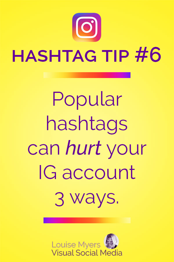 Using popular Instagram hashtags can hurt you