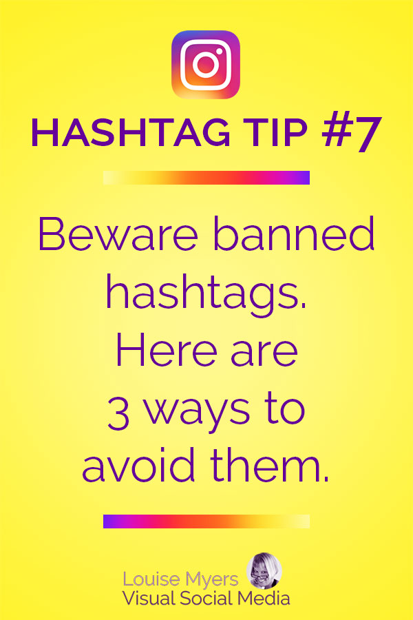 Avoid using banned Instagram hashtags