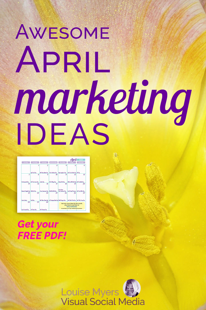 April marketing ideas FREE content inspiration calendar