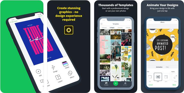 Adobe Spark Post Graphic Design Collage Creator