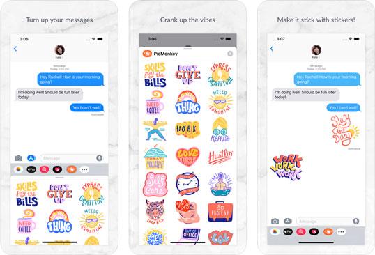 PicMonkey app iMessage stickers