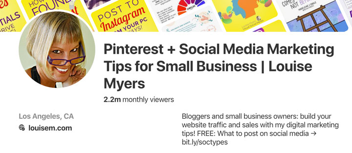 Pinterest business account profile