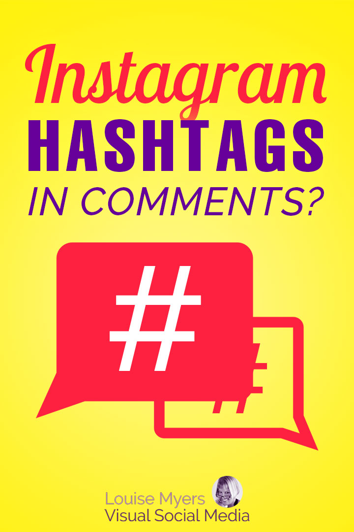 Instagram Hashtags in Comments pin image