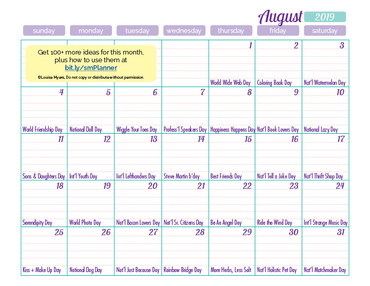 You can download the low-resolution August content calendar by right-clicking on the image.