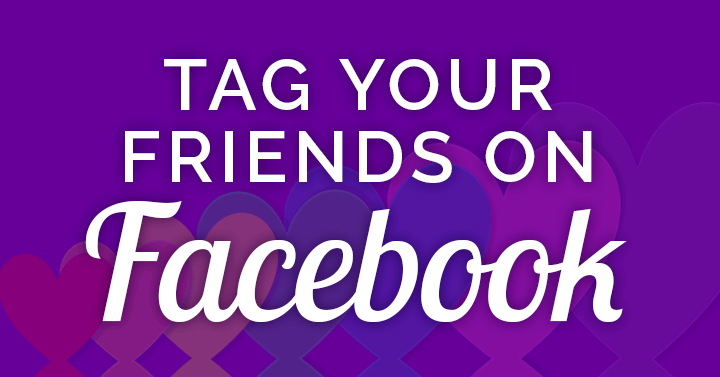 how to tag friends on Facebook banner