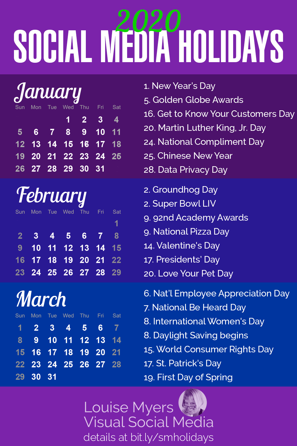1st Day Of Spring 2020.84 Social Media Holidays You Need In 2020 Indispensable