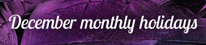 DecemberMonthly Holidays banner