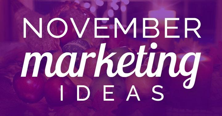 November marketing ideas banner