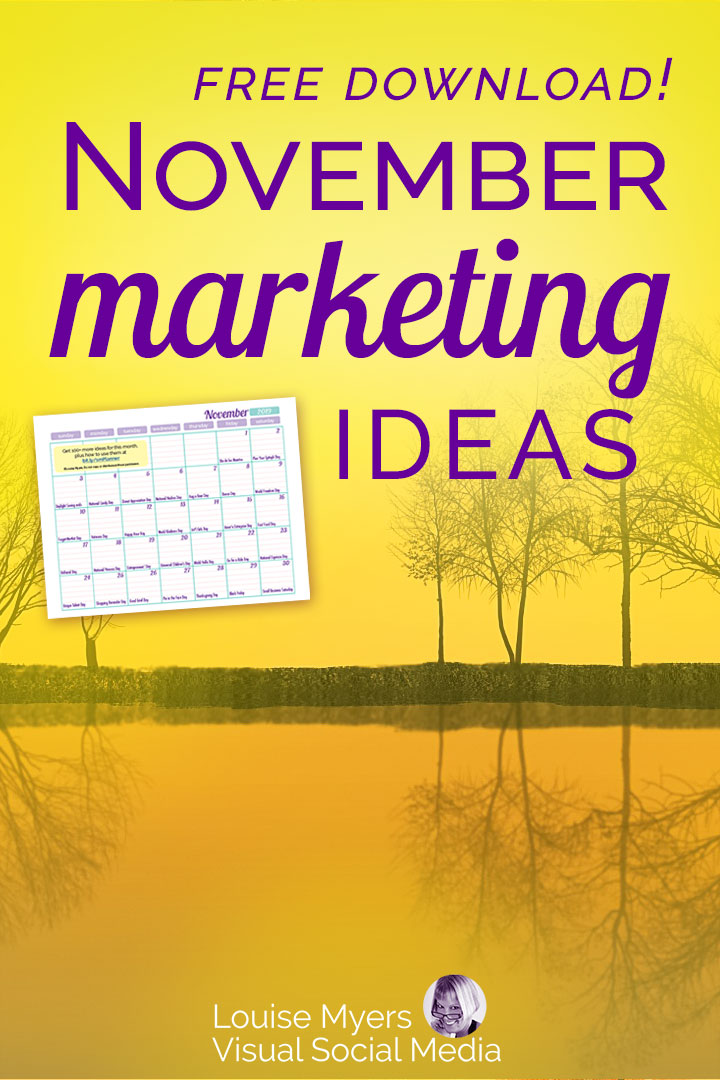 November marketing ideas Pinterest image