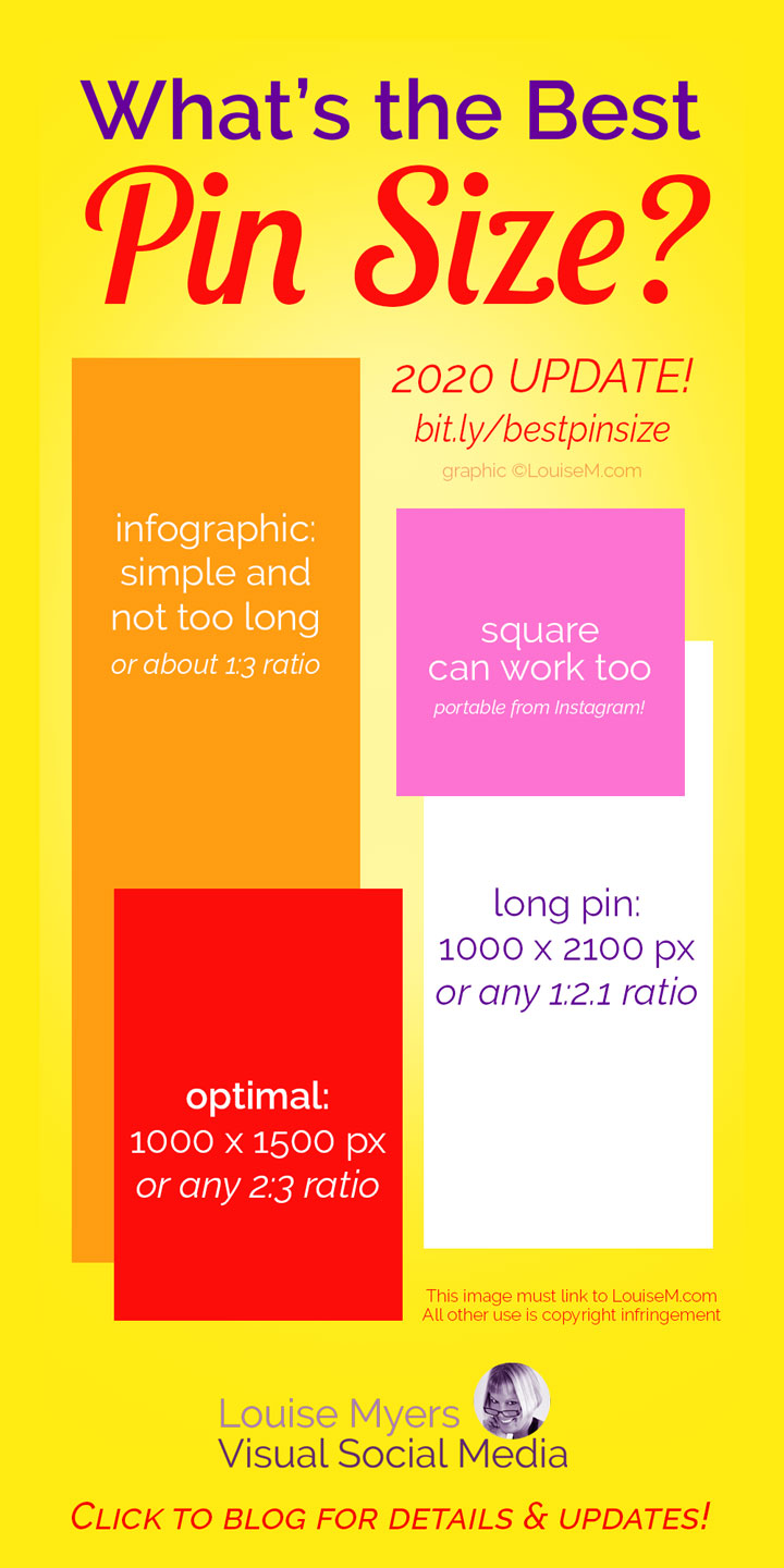 best Pinterest Pin sizes infographic