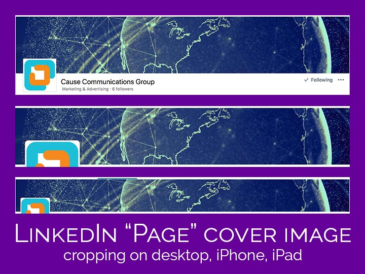 LinkedIn Page cover image cropping by device