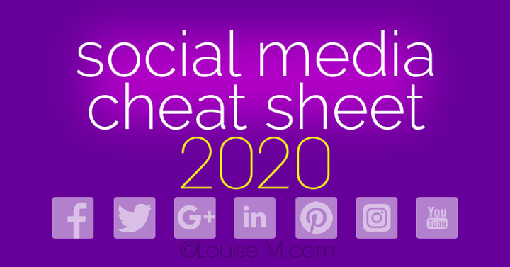 Social Media Cheat Sheet 2020 Must Have Image Sizes