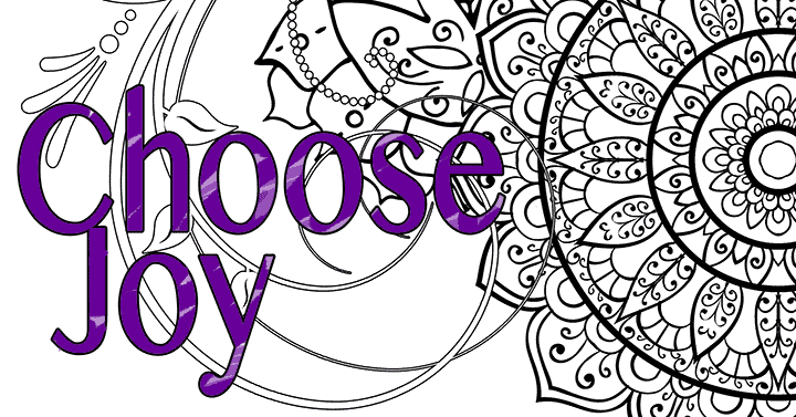 choose joy coloring page banner