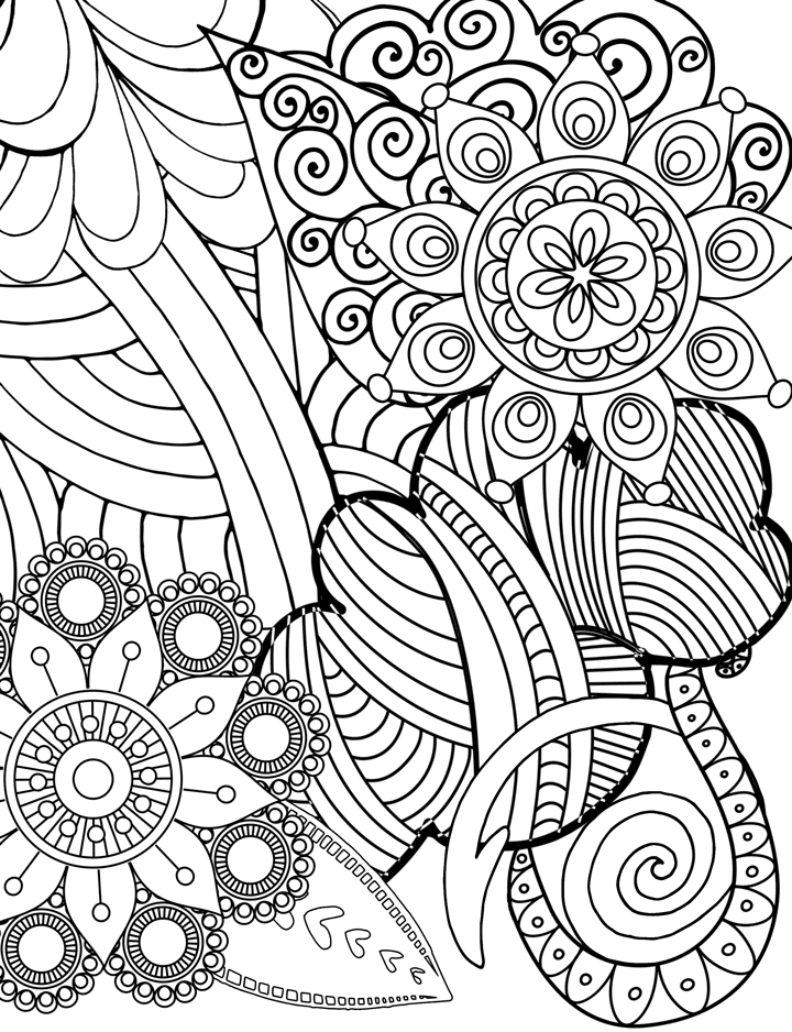 sample of free coloring page of flowers