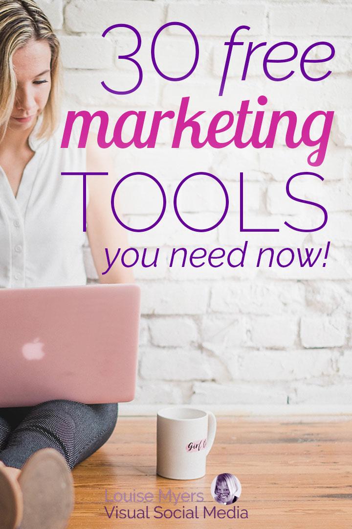 free marketing tools pin image