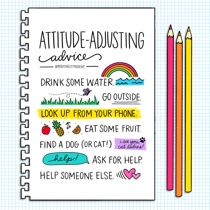 attitude adjusting advice